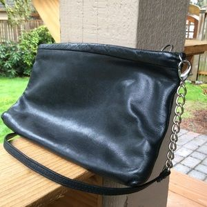 Nordstrom's black bag leather  inside and out